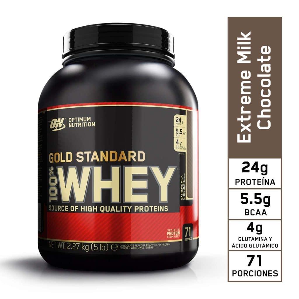 ON Gold Standard 100% la mejor proteína Whey en polvo con suero de leche instantánea número 1 en ventas* durante más de 20 años, ideal para aquellos que buscan una ayuda antes, durante y después de entrenar.